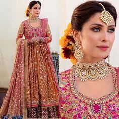 New Awesome Bridal Photshoot of Ayeza Khan – Wedding New Bridal Dresses, Bridal Mehndi Dresses, Asian Wedding Dress, Bridal Dress Design, Pakistani Wedding Dresses, Pakistani Dress Design, Pakistani Outfits, Bridal Outfits, Pakistani Mehndi Dress