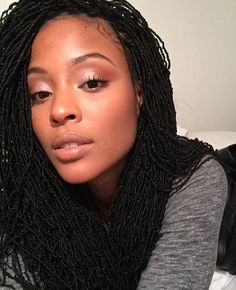 Happy #Thursday! Have you checked out our Micro Locs yet? - Tag a friend who would look great in Micro Locs! - @ashleighgisele 's hair by @idlelocs