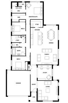 Home Design Drawings Jagera 250 Home Design - House Design Jagera 250 Best House Plans, Small House Plans, House Floor Plans, Building Plans, Building A House, Hotondo Homes, House Plans Australia, House Ideas, New Home Designs