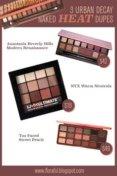 Here are 3 amazing eyeshadow palette dupes of the new Urban Decay Naked Heat Palette (with swatches included!)