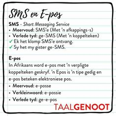 Afrikaans Language, Afrikaanse Quotes, School Hacks, Humor, Success Quotes, Self Help, Kids Learning, Spelling, Teaching Resources