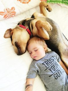 It's been nearly half a year since the toddler Beau and his rescue puppy Theo first started taking daily naps together, and the adorable snuggle buddies Dogs And Kids, Animals For Kids, Baby Animals, Cute Animals, Smart Animals, Cute Kids Pics, Cute Pictures, Toddler Nap, Pet 5