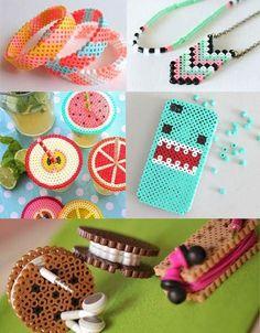 Der er ingen grænser for, hvad du kan lave ud af hama perler Pokemon Perler Beads, Diy Perler Beads, Perler Bead Art, Perler Bead Templates, Pearler Bead Patterns, Perler Patterns, Pixel Art, Diy And Crafts, Crafts For Kids
