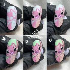 Pink Acrylic Nails, Disney Nails, Nail Tutorials, Lilo And Stitch, Olaf, Nail Inspo, Cartoons, Beauty, Ideas