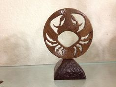 Zodiac sign made of walnut