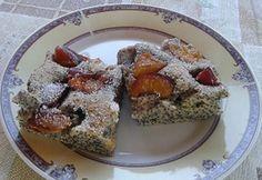Szilvás-mákos szelet Kefir, French Toast, Muffin, Breakfast, Cake, Food, Poppy, Morning Coffee, Kuchen