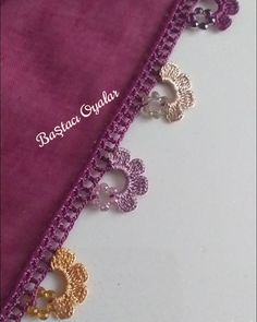 Crochet Lace Edging, Crochet Flower Tutorial, Crochet Flowers, Crochet Stitches, Saree Tassels Designs, Saree Kuchu Designs, Crochet Shoes, Bead Crochet, Embroidery On Clothes