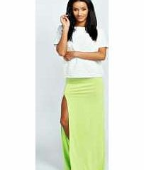 boohoo Soraya Thigh High Split Maxi Skirt - lime azz36026 Upgrade your standard maxi skirt with this knock-out side split number. Taking you through from day to night, work it with a printed tee , chunky boots and a vintage-inspired denim jacket for some day http://www.comparestoreprices.co.uk/skirts/boohoo-soraya-thigh-high-split-maxi-skirt--lime-azz36026.asp