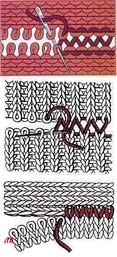 Naht schliessen Knitting Techniques techniques used in knitting Knitting Help, Knitting Stiches, Loom Knitting, Hand Knitting, Sewing Stitches, Knitting Machine, Knitting Patterns, Crochet Patterns, Knit Or Crochet