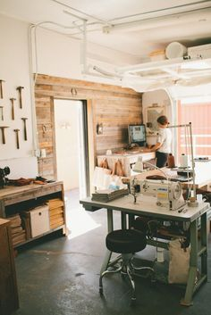 "Amy's ""Back to Her Roots"" Workspace: The Studio of Stitch & Hammer Workspace Tour 