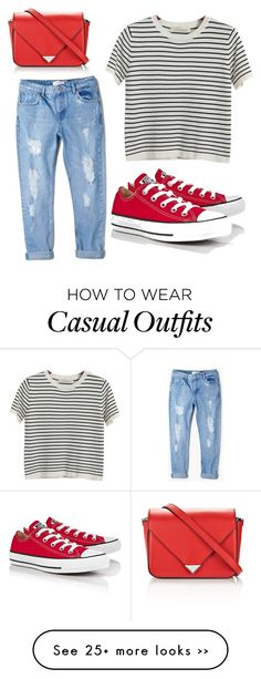 """""""Comfy and casual"""" by maggiemoo42 on Polyvore featuring MANGO, Chicnova Fashion, Converse and Alexander Wang"""