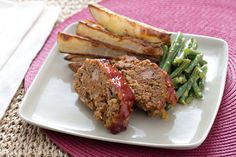Beef Meatloaf & Roasted Potatoes with Lemon-Horseradish Green Beans. Visit http://www.blueapron.com/ to receive the ingredients.