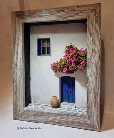 Photo Frame Crafts, Diy Garden Fountains, Shadow Box Art, Diy Crafts To Do, Miniature Crafts, Hand Art, Wooden Crafts, Creative Art, Framed Art