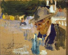 Joaquín Sorolla - Rogelio Gordón tomando el aperitivo, 1918 - San Telmo Museoa, San Sebastián