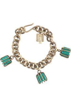 Turquoise Cube Bracelet - Kelly Wearstler - 295- usd