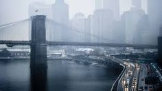 2010 photo by Steve Kelley - view from the Manhattan Bridge looking towards the Brooklyn Bridge and downtown New York City (NYC) with the FDR Drive running underneath and the East River flowing to the left along the shoreline. Snow and fog Nikon Brooklyn Bridge, New York Bridge, Manhattan Bridge, Downtown New York, New York City, The Places Youll Go, Places To See, 1366x768 Wallpaper, New York Wallpaper