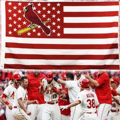 St Louis Cardinals Stars and Stripes Flag