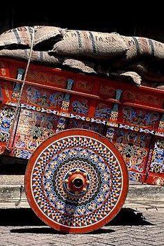 Art work on an Ox-Cart….