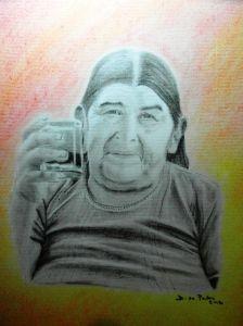 Doña Alejandra Carboncillo y pastel en A3 Enero 2012