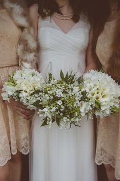 Atmospheric Lake District Wedding: Vintage Style with Simple Bouquets