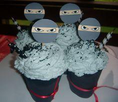Free printable for ninja cupcake picks and wrappers!