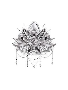 Mandala Lotus Flower von mermaidnatalie