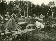 Image of tents, makeshift kitchens, and miners during hard times.. Coal Mining, Some Image, Hard Times, When Us, Tents, Kitchens, Sisters, Painting, Tough Times