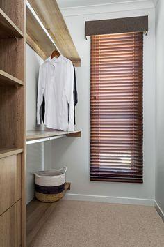 Timber Venetian Retro Jarrah D With Pelmet In Warwickfabrics Wilde Mink Window