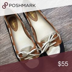 7f3597eb589 Shop Women s Cole Haan White Black size 6 Flats   Loafers at a discounted  price at Poshmark. Description  Size 6 Cole Haan Nike Air slip on flats.