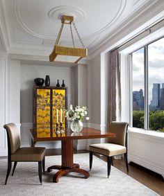 CEILING MEDALLION | John B. Murray Architect http://www.jbmarchitect.com/portfolio/city/combination-renovation-of-a-fifth-avenue-apartment/