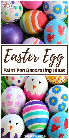 Decorate Easter Eggs with paint Pens! Easter egg decorating with paint pens is fun for the whole family. Try our easy paint pen Easter egg decorating ideas! Craft Projects For Kids, Easter Crafts For Kids, Diy Wood Wall, Unicorn Ornaments, Diy Headboards, Spring Activities, Egg Decorating, Do It Yourself Home, Paint Pens