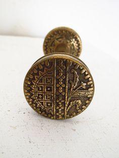 // victorian brass doorknob