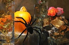 Halloween hotel - spiders and all! Halloween Horror, Happy Halloween, Halloween Cocktails, Skates, Spiders, Bespoke, Display, Flowers, Taylormade