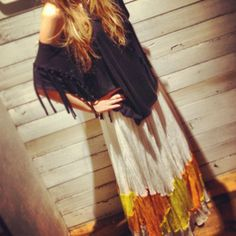 Fantasy Fringe Tee style pic on Free People Absolutely love this look! very bohemian, and comfortable.