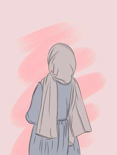 Hijab Drawing, Image Citation, Islamic Cartoon, Anime Muslim, Hijab Cartoon, Cute Girl Drawing, Cute Girl Wallpaper, Cartoon Art Styles, Digital Art Girl