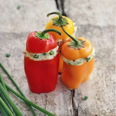 These Greek themed sweet mini peppers, stuffed with tangy feta cheese, garlic and fresh herbs, make an excellent appetizer or healthy snack! My soldier is off doing solder-y stuff which means I don...