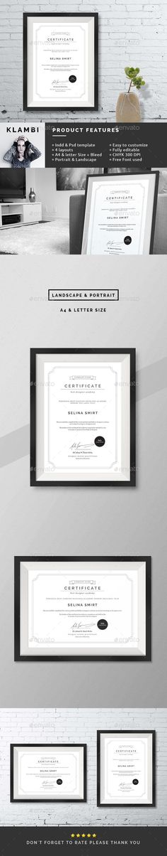 Clean Certificates Template PSD, INDD. Download here: http://graphicriver.net/item/clean-certificates/12434893?ref=ksioks