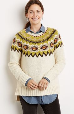 Cadogan Fair Isle pullover sweater from J.Jill