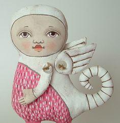 Pink Monster Original Contemporary Folk Art von cartbeforethehorse, $120,00