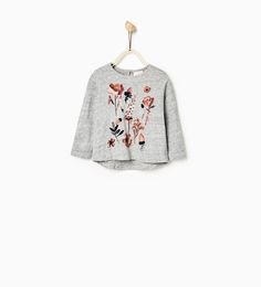 Image 1 of FLOWERS TOP from Zara