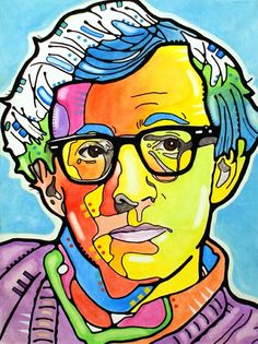Pastel Woody Allen Pop Art by deanrussoart on DeviantArt