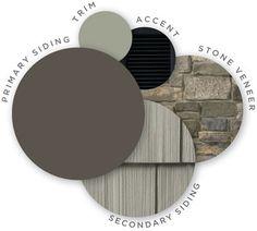49 ideas exterior house siding colors vinyls stone veneer for 2019 Exterior Siding Colors, Exterior Paint Colors For House, Exterior Color Schemes, Paint Colors For Home, Exterior Design, Paint Colours, Exterior Shutters, Louvered Shutters, Grey Exterior