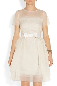 Lanvin | Layered silk-organza dress | NET-A-PORTER.COM