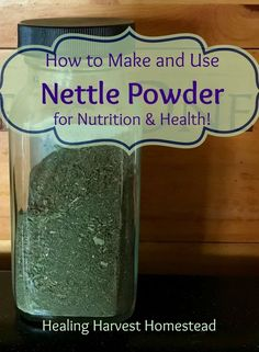 Making and Using Nettle Powder for Nutrition and Health...And How to Sneak It Into Your Family's Food!