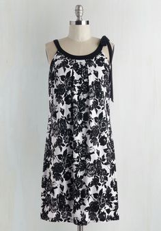 What's the Fleur One One? Dress. Youre thrilled to 'trellis' all about the latest and loveliest fashion trends wearing this black and white shift dress!  #modcloth