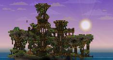 Starbound - island build