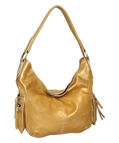 7930822ea0 Nino Bossi Handbags Gold Cheri Leather Hobo Gold Handbags