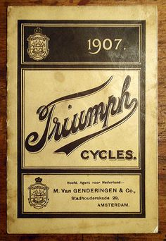 TRIUMPH 1907 BICYCLE CATALOGUE