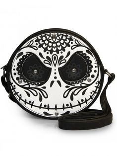 """Sugar Skull Jack"" Diecut Crossbody Bag by Loungefly"
