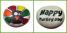 Thanksgiving Turkey painted rock